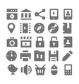 Advertising and Media Icons 2 vector image vector image