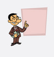 asian businessman decided somewhat angry is vector image vector image