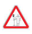 attention sick man hospital patient with dropper vector image vector image