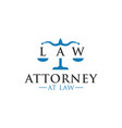 attorney at law logo icon graphic design template vector image vector image