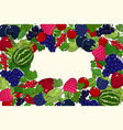 banner of summer juicy ripe berries vector image vector image