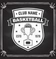 basketball sport club badge vector image