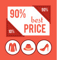 best price with 90 off for female clothes promo vector image vector image