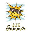 best summer creative graphic lettering vector image