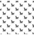 blind girl dog guide pattern seamless vector image