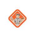 Bricklayer Mason Plasterer Standing Shield Cartoon vector image vector image