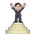 Businessman is standing on pedestal 2 vector image vector image