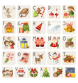 Christmas alphabet vector image