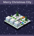 christmas winter city graphic conceptual holiday vector image vector image