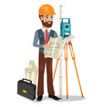 civil engineer character isolated vector image