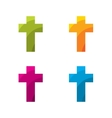 Colored cross set vector image