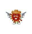 cool cowboy design deadly coronvirus holding guns vector image vector image