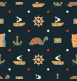 dark blue seamless pattern with turtles vector image