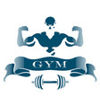 design fitness gym vector image