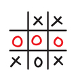 doodle tic tac toe game vector image