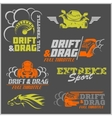 Drift Drag racing Tuning Motor Sport - Set of vector image vector image