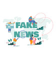 fake news info fabrication gossips concept vector image