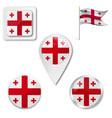 flag georgia vector image vector image