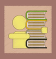 flat shading style icon schoolboy books vector image vector image