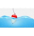 Float in transparent blue waves vector image vector image
