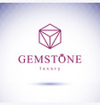 glossy gemstone design element faceted jewelry vector image vector image