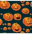 Halloween background with pumpkins vector image vector image