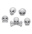 Halloween or Pirate themed skull set vector image vector image