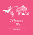 happy valentines day love holiday concept paper vector image