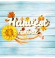 Harvest Festival Poster EPS 10 vector image vector image