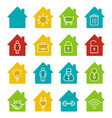 houses glyph color icon set vector image vector image