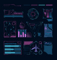 hud interface futuristic sci digital symbols and vector image vector image