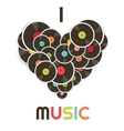 i love music vector image vector image