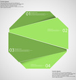Infographic template with green octagon randomly