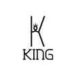 king monogram vector image