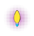 Lamp oval shape icon comics style vector image vector image