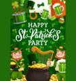leprechaun gold and irish flag st patricks day vector image vector image