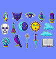 magic set mystery items mystic alchemy vector image