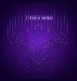 man ciber mind vector image