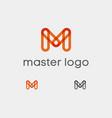 master logo oramge m transparent vector image vector image