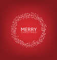 merry christmas label vector image vector image