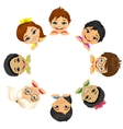 multi ethnic group of children vector image vector image