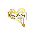 new year card on golden heart vector image vector image