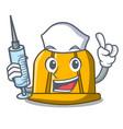 nurse construction helmet character cartoon vector image