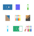 office icons set of cardboard folders vector image
