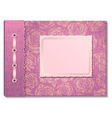 Pink fabric cover a photo album vector image vector image