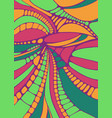 psychedelic colorful surreal doodle pattern vector image vector image