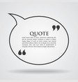 quote blank template card vector image