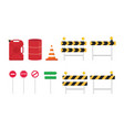 road sign set collection with various shape and vector image vector image