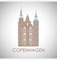 rosenborg castle the symbol copenhagen denmark vector image vector image
