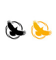 round logos with raven vector image vector image